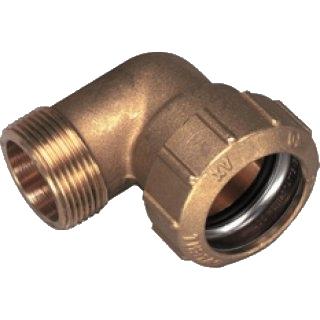Fabulous 32 mm PE-Rohr Messing Winkel Verschraubung 1 AG [#176] - 9,60 UK96